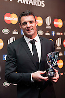 Dan Carter of New Zealand, winner of Player of the Year award at the World Rugby Awards 2015  - 01/11/2015 - Battersea Evolution, London<br /> Mandatory Credit: Rob Munro/Stewart Communications
