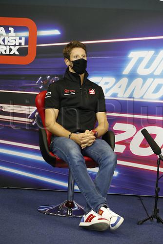 12th November 2020; Istanbul Park, Istanbul, Turkey;   FIA Formula One World Championship 2020, Grand Prix of Turkey, 8 Romain Grosjean FRA, Haas F1 Team pre race press conference