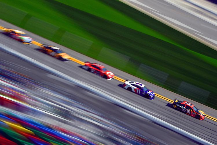 #19: Martin Truex Jr., Joe Gibbs Racing, Toyota Camry and #11: Denny Hamlin, Joe Gibbs Racing, Toyota Camry FedEx