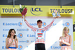 Tim Wellens (BEL) Lotto-Soudal retains the Yellow Jersey at the end of Stage 11 of the 2019 Tour de France running 167km from Albi to Toulouse, France. 17th July 2019.<br /> Picture: ASO/Alex Broadway   Cyclefile<br /> All photos usage must carry mandatory copyright credit (© Cyclefile   ASO/Alex Broadway)