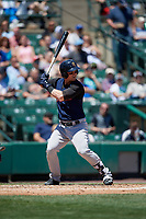 Scranton/Wilkes-Barre RailRiders first baseman Tyler Austin (3) bats during a game against the Rochester Red Wings on June 7, 2017 at Frontier Field in Rochester, New York.  Scranton defeated Rochester 5-1.  (Mike Janes/Four Seam Images)