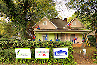 Photography of Lowe's and their partnership with Rebuilding Together in the Cherry Neighborhood in Charlotte, NC...Photo by: PatrickSchneiderPhoto.com