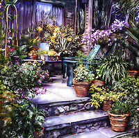 My favorite retreat in the warm months is my stone patio. I've surrounded myself with the plants and flowers that I love. Come for a visit soon.<br />