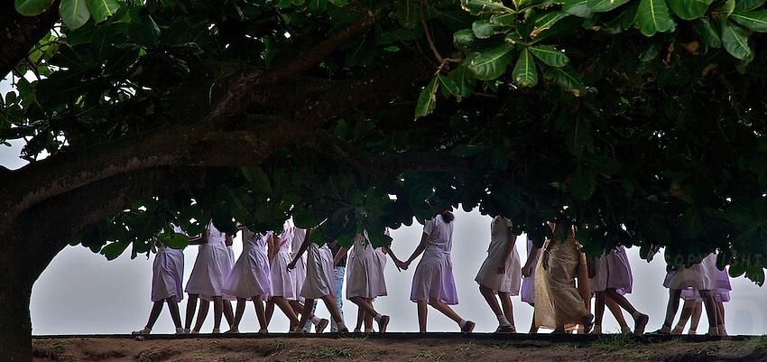 School Children near the Fort of Galle, Sri Lanka