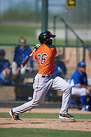 San Francisco Giants Daniel Carbonell (26) during an instructional league game against the Kansas City Royals on October 23, 2015 at the Papago Baseball Facility in Phoenix, Arizona.  (Mike Janes/Four Seam Images)