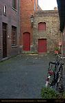 Street Scene: Stoofstraat Stove Street off Walplein, Bruges, Brugge, Belgium
