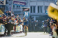 high 5 for some young fans from Niki Terpstra (NED/Quick-Step Floors) at the (new) race start in Antwerpen<br /> <br /> 101th Ronde Van Vlaanderen 2017 (1.UWT)<br /> 1day race: Antwerp › Oudenaarde - BEL (260km)