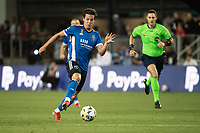 SAN JOSE, CA - SEPTEMBER 4: Carlos Fierro #7 of the San Jose Earthquakes dribbles the ball during a game between Colorado Rapids and San Jose Earthquakes at PayPal Park on September 4, 2021 in San Jose, California.