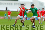 Paudie Clifford East Kerry in action against Eamon Kiely St Kierans during the Kerry County Senior Football Championship Round quarter final match between St Kierans and East Kerry at Austin Stack Park in Tralee on Saturday.