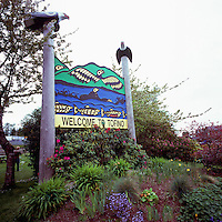 Tofino, BC, Vancouver Island, British Columbia, Canada - Welcome Sign