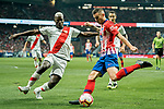 Lucas Hernandez (R) of Atletico de Madrid fights for the ball with Luis Advincula of Rayo Vallecano during the La Liga 2018-19 match between Atletico de Madrid and Rayo Vallecano at Wanda Metropolitano on August 25 2018 in Madrid, Spain. Photo by Diego Souto / Power Sport Images