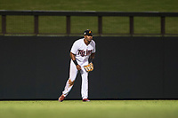 Salt River Rafters left fielder Jaylin Davis (30), of the Minnesota Twins organization, during an Arizona Fall League game against the Scottsdale Scorpions at Salt River Fields at Talking Stick on October 11, 2018 in Scottsdale, Arizona. Salt River defeated Scottsdale 7-6. (Zachary Lucy/Four Seam Images)