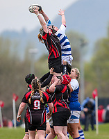 Sunday 7 April 2019 | Carrick W vs Dungannon W<br /> <br /> Heather Gamble during the Rejenerate Cup Final between Carrick and Dungannon at Super Sunday Finals Day at Tom Simms Memorial Park, Carrickfergus RFC, County Antrim, Northern Ireland . Photo by John Dickson / DICKSONDIGITAL