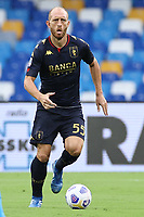 Andrea Masiello of Genoa CFC<br /> during the Serie A football match between SSC Napoli and Genoa CFC at stadio San Paolo in Napoli (Italy), September 27, 2020. <br /> Photo Cesare Purini / Insidefoto