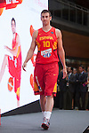 Victor Claver during the official presentation of Spain´s basketball team for the 2014 Spain Basketball Championship in Madrid, Spain. July 24, 2014. (ALTERPHOTOS/Victor Blanco)