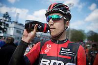 Taylor Phinney (USA/BMC) post-race<br /> <br /> Paris-Roubaix 2014