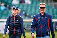 Team USA's Eric Duvander, heads into the arena to watch Ariel Grald ride Leamore Master Plan during the first day of Dressage. 2019 GBR-Land Rover Burghley Horse Trials. Wednesday 4 September. Copyright Photo: Libby Law Photography