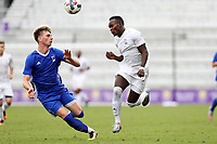 Orlando, Florida - Saturday January 13, 2018: Francis Atuahene and Tristan Blackmon. Match Day 1 of the 2018 adidas MLS Player Combine was held Orlando City Stadium.