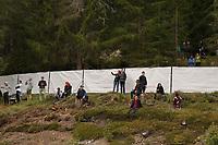 Fans vor dem Sichtschutz der Nationalmannschaft - Seefeld 29.05.2021: Trainingslager der Deutschen Nationalmannschaft zur EM-Vorbereitung