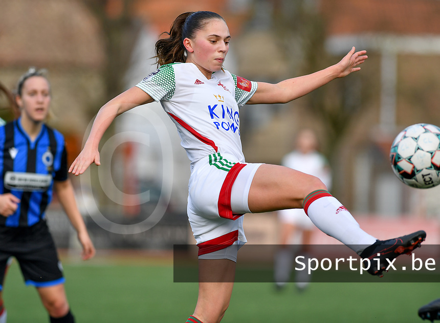 OHL's Jill Janssens pictured during a female soccer game between Club Brugge Dames YLA and Oud Heverlee Leuven on the 8 th matchday of the 2020 - 2021 season of Belgian Scooore Womens Super League , saturday 21 th November 2020  in Knokke , Belgium . PHOTO SPORTPIX.BE | SPP | DAVID CATRY