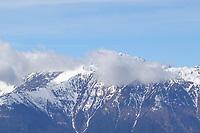 Alpenspitzen in den Wolken - Seefeld 26.05.2021: Trainingslager der Deutschen Nationalmannschaft zur EM-Vorbereitung