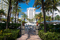 Back door to the beach of the luxury Loews hotel in Miami Beach, Florida