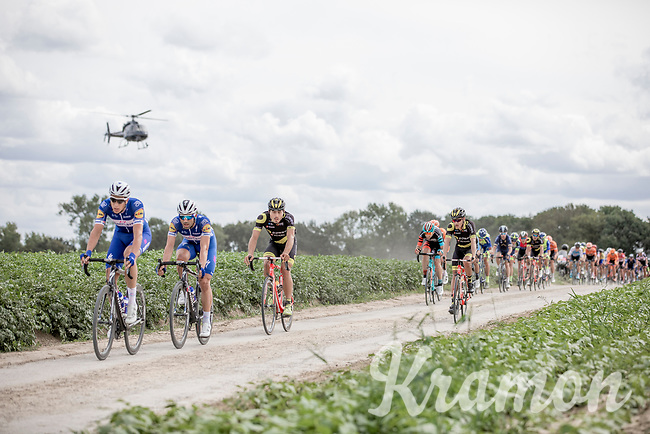 Niki Terpstra (NED/Quick-Step Floors) pounding over  the Plugstreets Gravel Sections. <br /> <br /> <br /> 1st Great War Remembrance Race 2018 (UCI Europe Tour Cat. 1.1) <br /> Nieuwpoort > Ieper (BE) 192.7 km