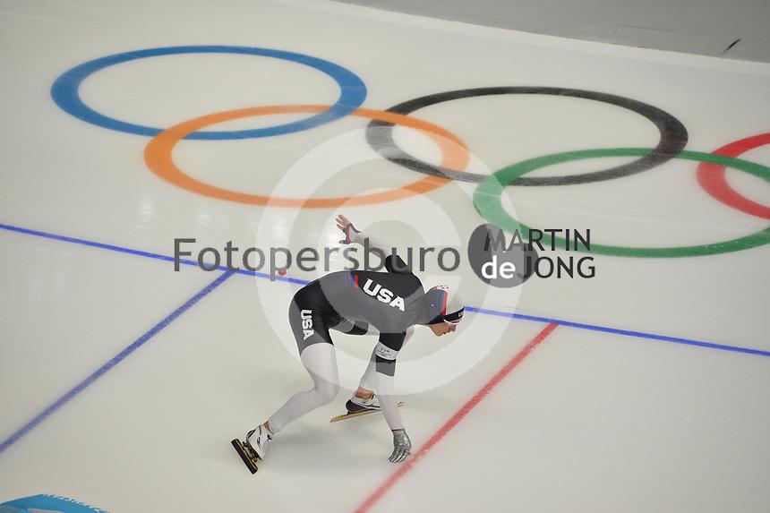 OLYMPIC GAMES: PYEONGCHANG: 19-02-2018, Gangneung Oval, Long Track, 500m Men, Kimani Griffin (USA), ©photo Martin de Jong