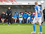 Hamilton Accies v St Johnstone…25.09.16.. New Douglas Park   SPFL<br />Tommy Wright gives instructions to Brian Esaton<br />Picture by Graeme Hart.<br />Copyright Perthshire Picture Agency<br />Tel: 01738 623350  Mobile: 07990 594431