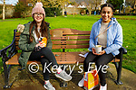 Relaxing in the Tralee town park on Thursday, l to r: Ellen Fitzmaurice and Leah Thomas.