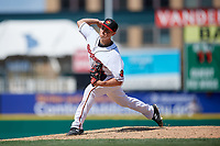 Rochester Red Wings pitcher Cody Stashak (53) during an International League game against the Scranton/Wilkes-Barre RailRiders on June 25, 2019 at Frontier Field in Rochester, New York.  Rochester defeated Scranton 10-9.  (Mike Janes/Four Seam Images)