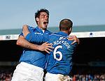 St Johnstone goalscorers Brian Graham and Steven Anderson celebrate together