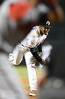 Glendale Desert Dogs pitcher Mychal Givens (23) during an Arizona Fall League game against the Peoria Javelinas on October 13, 2014 at Camelback Ranch in Phoenix, Arizona.  The game ended in a tie, 2-2.  (Mike Janes/Four Seam Images)