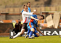 20040509    Copyright Pic: James Stewart.File Name : jspa21_clyde_v_ict.CLYDE PLAYER BOSS ALAN KERNAGHAN CHALLENGES DAVID BINGHAM.....James Stewart Photo Agency 19 Carronlea Drive, Falkirk. FK2 8DN      Vat Reg No. 607 6932 25.Office     : +44 (0)1324 570906     .Mobile  : +44 (0)7721 416997.Fax         :  +44 (0)1324 570906.E-mail  :  jim@jspa.co.uk.If you require further information then contact Jim Stewart on any of the numbers above.........