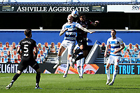 24th April 2021; The Kiyan Prince Foundation Stadium, London, England; English Football League Championship Football, Queen Park Rangers versus Norwich; Lyndon Dykes of Queens Park Rangers competes for the ball with Andrew Omobamidele of Norwich City