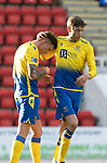 St Johnstone v Brechin City…10.10.20   McDiarmid Park  Betfred Cup<br />Callum Hendry celebrates his goal with Murray Davidson<br />Picture by Graeme Hart.<br />Copyright Perthshire Picture Agency<br />Tel: 01738 623350  Mobile: 07990 594431