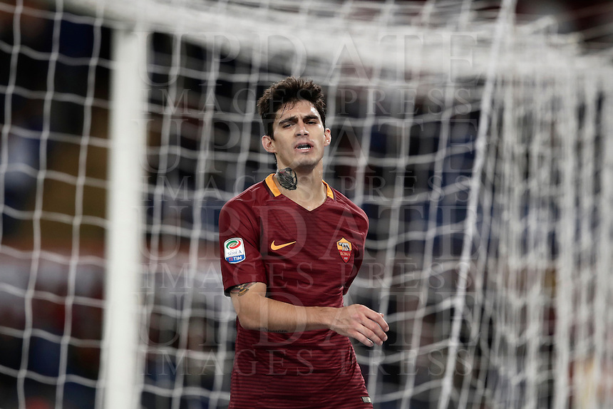 Calcio, Serie A: Roma vs Cagliari, Roma, stadio Olimpico, 22 gennaio 2017.<br /> Roma's Diego Perotti reacts during the Italian Serie A football match between Roma and Cagliari at Rome's Olympic stadium, 22 January 2017. <br /> UPDATE IMAGES PRESS/Isabella Bonotto