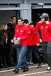 Real Madrid players Angel Di Maria and Pepe participate and recive new Audi during the presentation of Real Madrid's new cars made by Audi at the Jarama racetrack on November 8, 2012 in Madrid, Spain.(ALTERPHOTOS/Harry S. Stamper)
