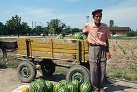 Bulgarien, Melonenverkäufer bei Plovdiv