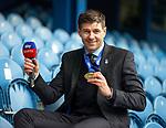 15.05.2021 Rangers v Aberdeen: Steven Gerrard with his league winners medal