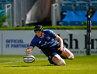 23th April 2021; RDS Arena, Dublin, Leinster, Ireland; Rainbow Cup Rugby, Leinster versus Munster; Josh Murphy of Leinster touches the ball down in his own end