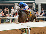October 09 2015:  Street Strategy and Corey Lanerie win the 7th race, Allowance Optional Claiming $100,000 at 1 mile.   This is the first 1 mile race over the Keeneland Dirt Track.  Candice Chavez/ESW/CSM