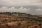 "Judea, Gush Etzion. A view of kibbutz Rosh Tzurim as seen from the ""Path of the Patriarchs"""