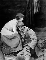 The Motion Picture - A Win-The-War Factor. Dorothy Gish in The Greatest Thing in Life, a D. W. Griffith Artcraft picture released by Famous Players - Lasky Corp.  1918.  (War Dept.)<br />Exact Date Shot Unknown<br />NARA FILE #:  165-WW-463A-5<br />WAR & CONFLICT BOOK #:  524