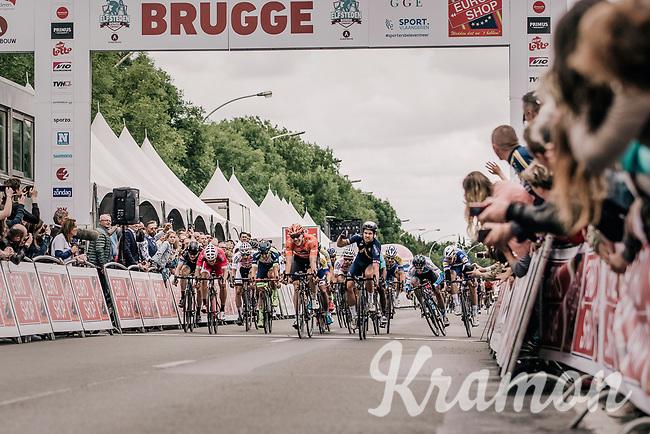 Adam Blythe (GBR/Aqua Blue Sport) takes the victory in a bunch sprint. <br /> <br /> 2nd Elfstedenronde 2018<br /> 1 day race: Brugge - Brugge 196.3km
