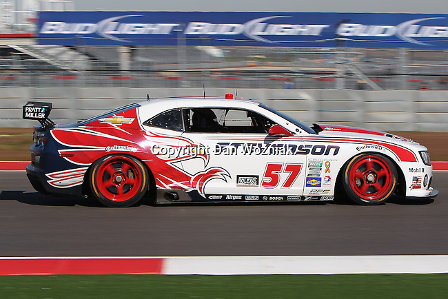 John Edwards (57), Driver of Stevenson Motorsports Camaro GT.R in action during the Grand-Am of the Americas race at the Circuit of the Americas race track in Austin,Texas...