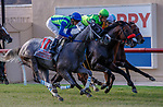 DEL MAR, CA  JULY 16: The start of the Runhappy Oceanside Stakes with four in a line, on July 16, 2021 at Del Mar Thoroughbred Club in Del Mar, CA (Photo by Casey Phillips/Eclipse Sportswire/ CSM)