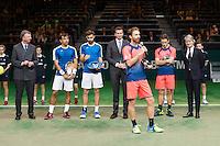 ABN AMRO World Tennis Tournament, Rotterdam, The Netherlands, 19 Februari, 2017, Matwe Middelkoop (NED), Wesley Koolhof (NED), Ivan Dodig (CRO), Marcel Granollers (ESP)<br /> Photo: Henk Koster
