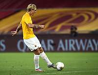 Roma s Nicolo Zaniolo warms up before to the start of the Italian Serie A football match between Roma and Parma at Rome's Olympic stadium, July 8, 2020.<br /> UPDATE IMAGES PRESS/Isabella Bonotto