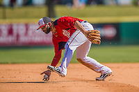 5 March 2013: Washington Nationals infielder Danny Espinosa in action during a Spring Training game against the Houston Astros at Space Coast Stadium in Viera, Florida. The Nationals defeated the Astros 7-1 in Grapefruit League play. Mandatory Credit: Ed Wolfstein Photo *** RAW (NEF) Image File Available ***